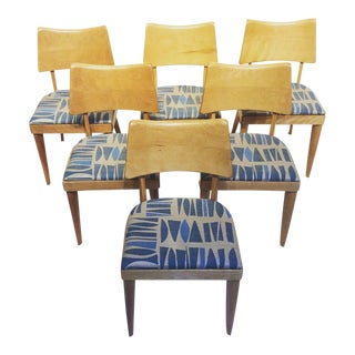Mid-Century Modern Heywood-Wakefield Dining Chairs- Set of 6 For Sale
