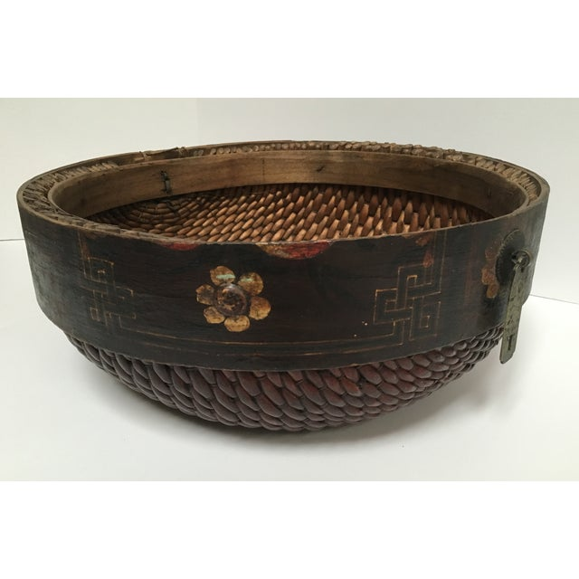 Hand Woven African Folk Art Basket - Image 3 of 10
