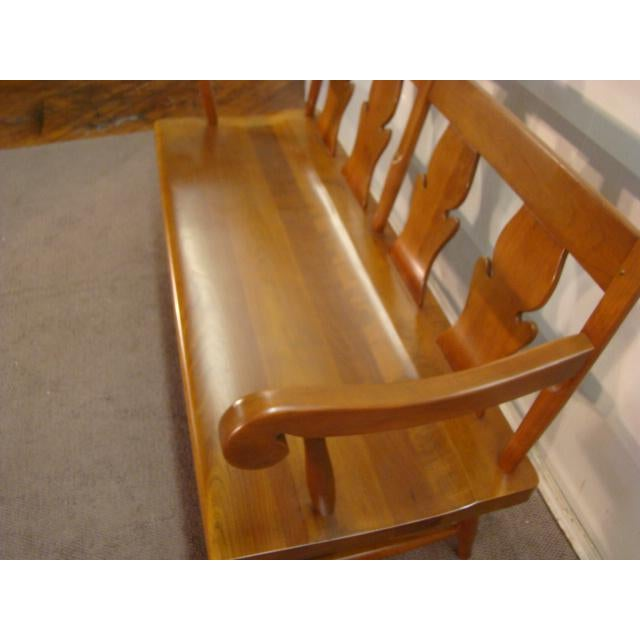 Stickley Stickley Solid Cherry Settee or Bench For Sale - Image 4 of 9