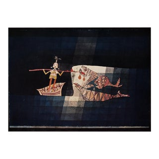 """1955 Paul Klee """"Battle Scene From the Comic Operatic Fantasy"""", First Edition Lithograph For Sale"""