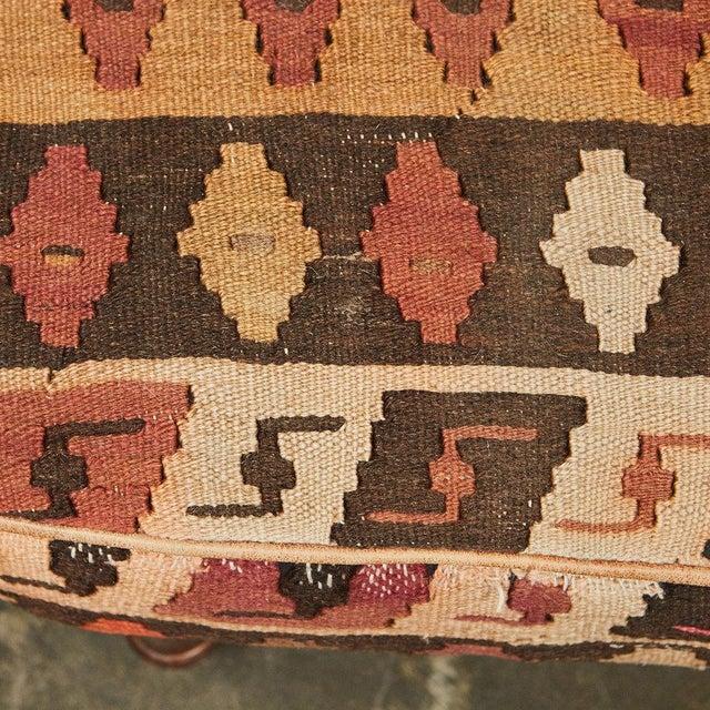 1980s English Kilim Ottoman For Sale - Image 5 of 6