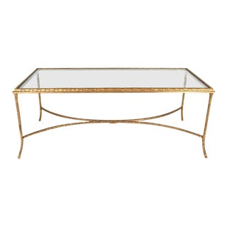 French Gilt Bronze Cocktail Table in the Style of Maison Baguès, circa 1950s For Sale