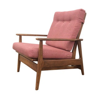 1960s Danish Modern Rocking Lounge Chair For Sale