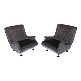Marco Zanuso Regent Italian Lounge Chair - a Pair For Sale