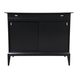 Mid-Century Modern Compact Ebonized Credenza by Heywood Wakefield For Sale