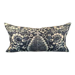 Custom La Garoupe Indigo Lumbar Pillow