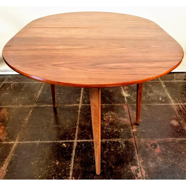 1960s Mid-Century Danish Modern Sutcliffe of Todmorden S Form Drop Leaf Table For Sale - Image 5 of 12