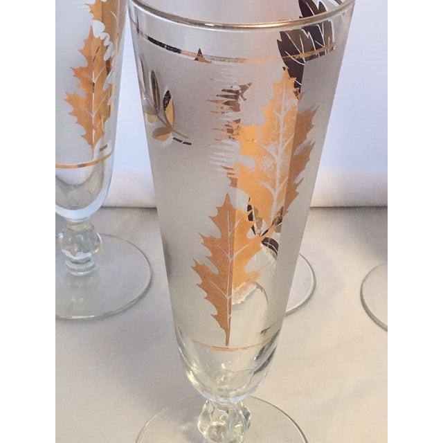 Vintage Gold Leaf Frosted Glassware - Set of 16 - Image 11 of 11