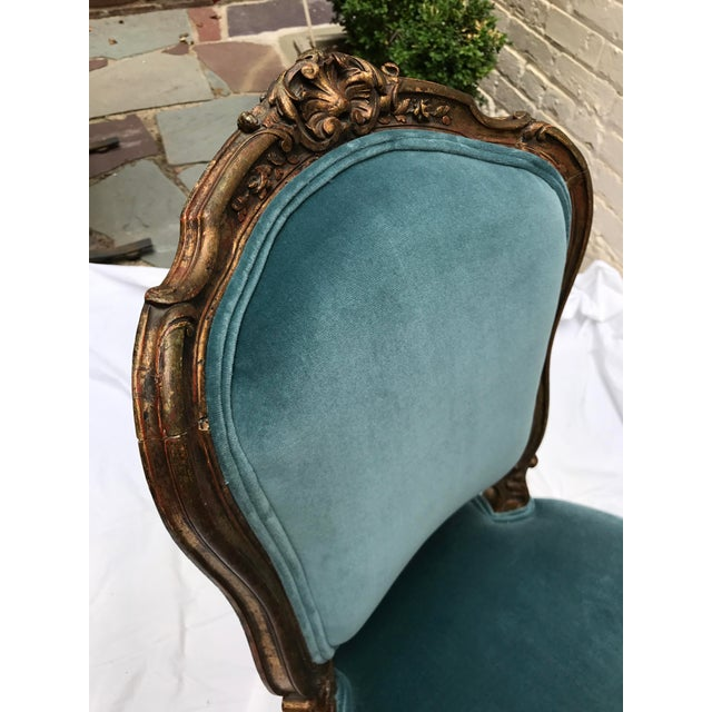 Antique Gilt Ballroom Chair For Sale - Image 11 of 11