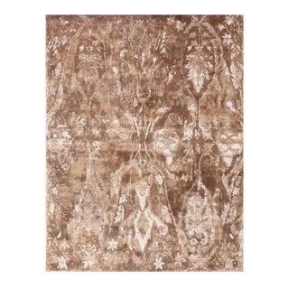Exquisite Rugs Newport Hand Loom Bamboo Silk Navy & Beige - 9'x12' For Sale