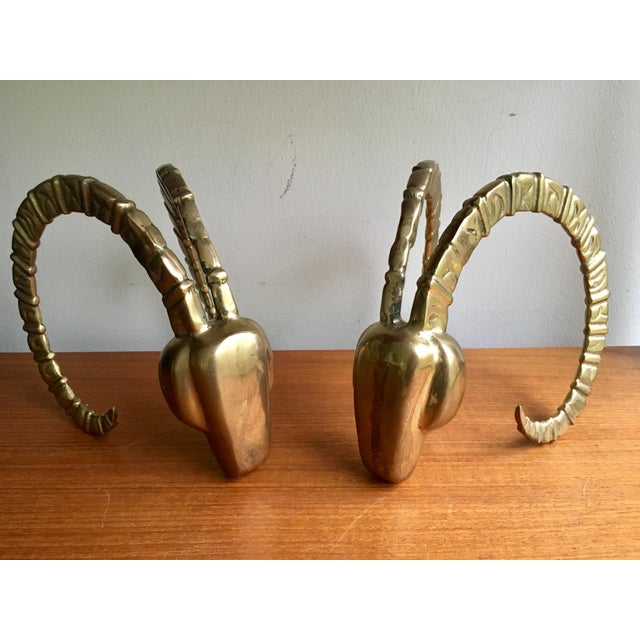 Super chic brass ram horns like these never go out of style. Circa 1970's, they're sculptural and make for supreme accents...