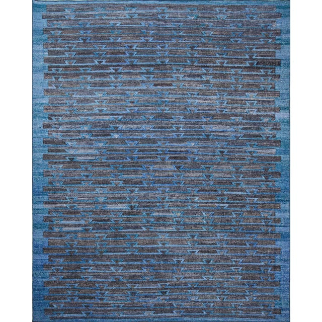 2010s Schumacher Patterson Flynn Martin Ruben Hand Woven Geometric Rug For Sale - Image 5 of 5