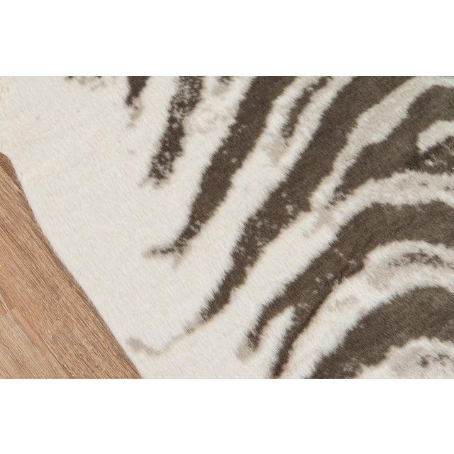 "Modern Erin Gates by Momeni Acadia Zebra Grey Faux Hide Area Rug - 5'3"" X 7'10"" For Sale - Image 3 of 7"