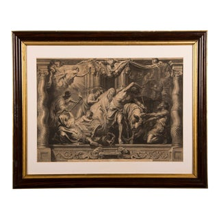 """The Triumph of Eucharistic Truth over Heresy"", an engraving of the painting by Peter Paul Rubens c.1800. For Sale"