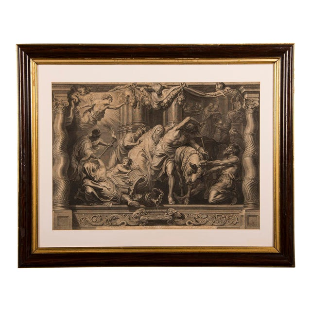 """""""The Triumph of Eucharistic Truth over Heresy"""", an engraving of the painting by Peter Paul Rubens c.1800. For Sale"""