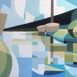 Image of Contemporary Oil Painting by Andy Dobbie, Early Morning Holyhead Breakwater Country Park For Sale