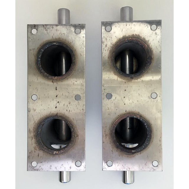 Metal Nautical Chrome Yacht Cleats - a Pair For Sale - Image 7 of 8