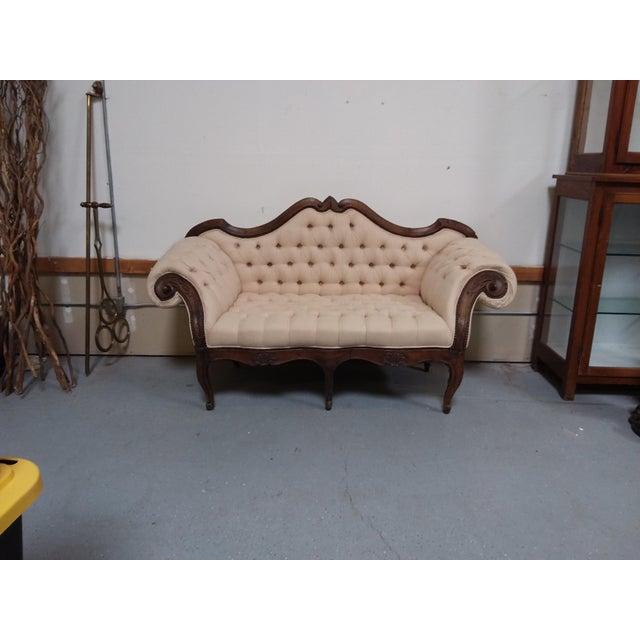 18th Century Walnut Piedmontese Sofa For Sale - Image 9 of 11