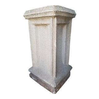 Vintage Estate Garden Stone Pedestal