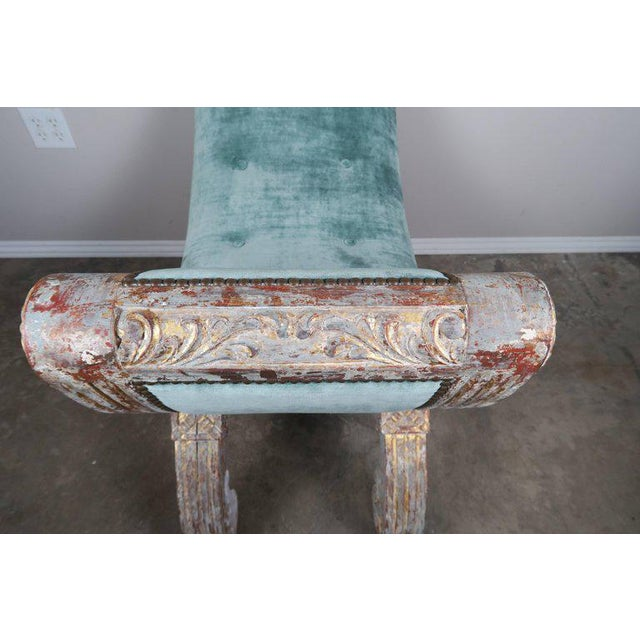 French Carved Gilt Wood Regency Style Bench - Image 4 of 8