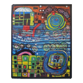 "1995 Original Exhibition Poster - ""The Four Solitudes"" by Hundertwasser For Sale"