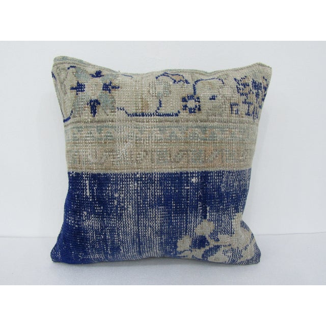 Vintage Turkish Navy Decorative Pillow Cover For Sale - Image 4 of 4
