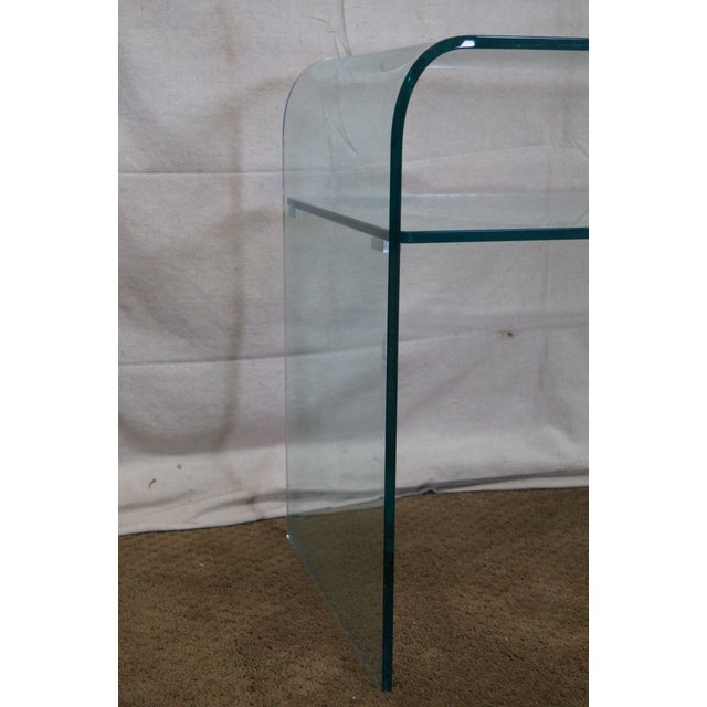 Mid-Century Modern Curved Glass Console Table For Sale In Philadelphia - Image 6 of 10