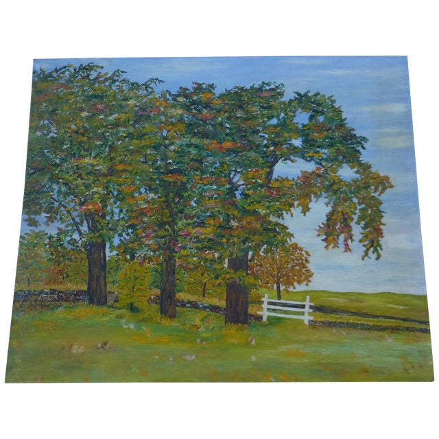 HL Musgrave Mid-Century New England Trees Painting - Image 1 of 6