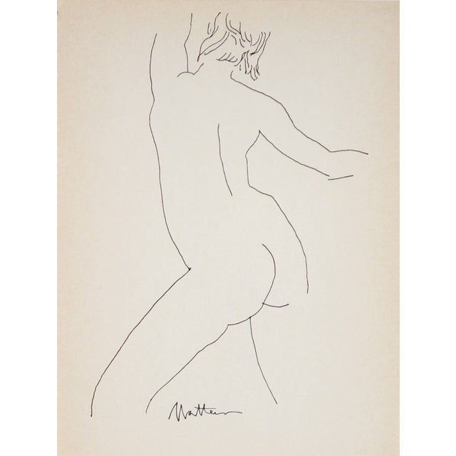 Figure Line Drawing by R. Matteson - Image 1 of 2