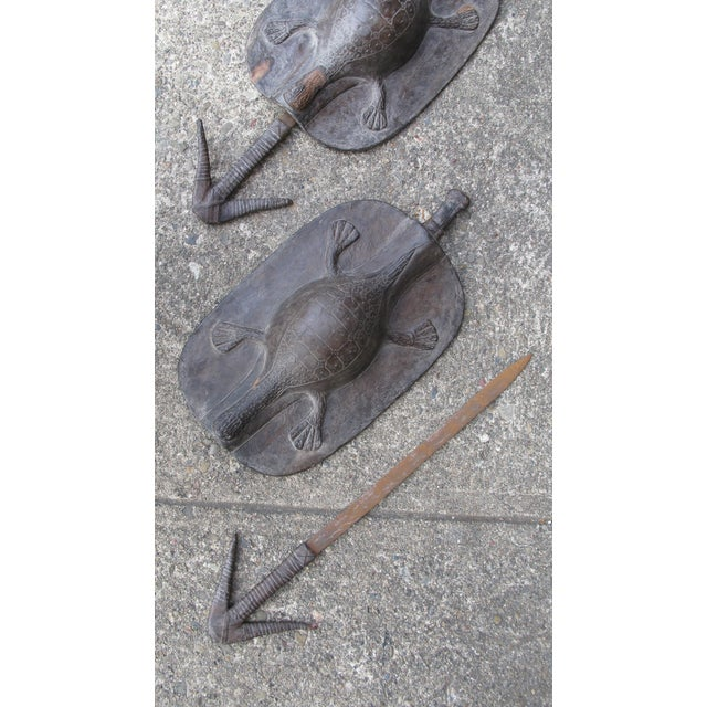 Pair of African Shields - Image 4 of 9