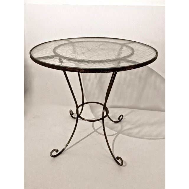 20th Century French Iron and Glass Bistro Table For Sale In Los Angeles - Image 6 of 6