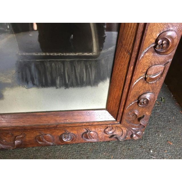 Art Nouveau Antique Hand Carved Frame Art Nouveau For Sale - Image 3 of 6