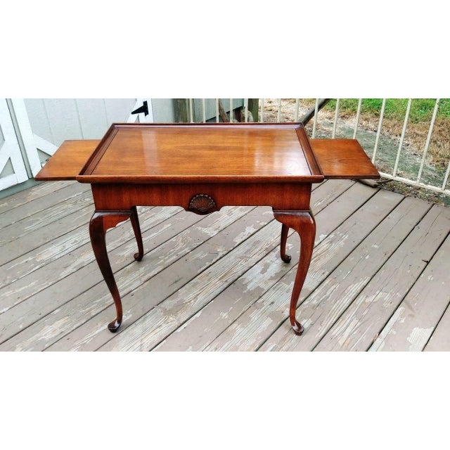 Vintage Traditional Brandt Mahogany Tea Table For Sale - Image 13 of 13