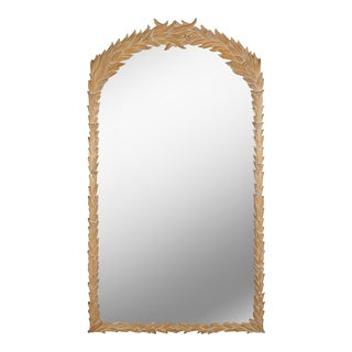 Carved Serge Roche Style Foliate Mirror For Sale