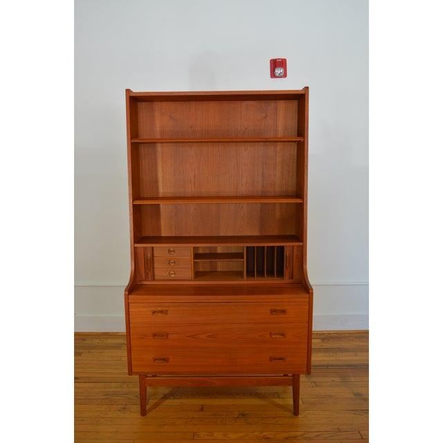 Danish Modern Bornholm Danish Modern Teak Secretary/Bookcase For Sale - Image 3 of 6