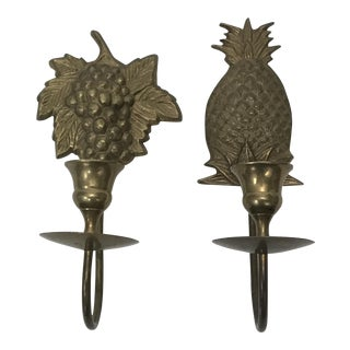 Wall Mount Candle Sconces - A Pair