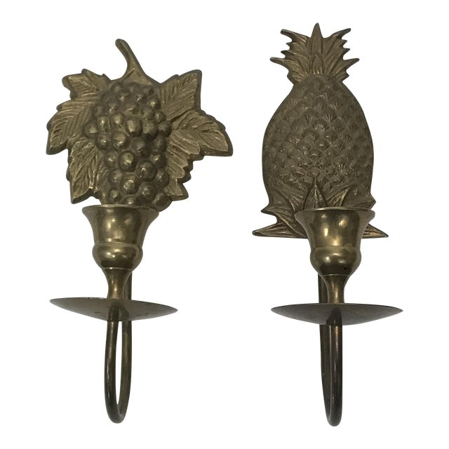 Wall Mount Candle Sconces - A Pair For Sale