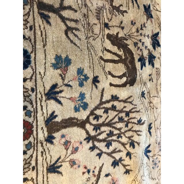 Antique Tabriz Pictorial Wool Rug - 9′4″ × 12′4″ For Sale - Image 10 of 11