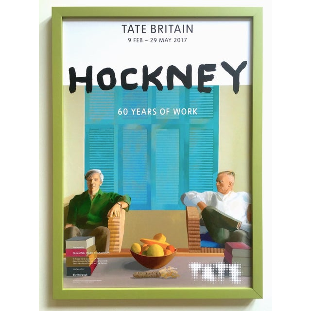 "David Hockney Rare Lithograph Print Tate Britain Framed Pop Art Exhibition Poster "" Christopher Isherwood and Don Bachardy "" 1968 For Sale - Image 12 of 13"