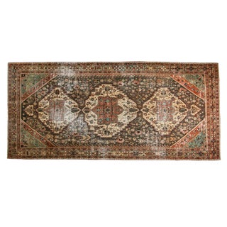 "Vintage Distressed Bakhtiari Rug Runner - 5'8"" X 12'6"" For Sale"