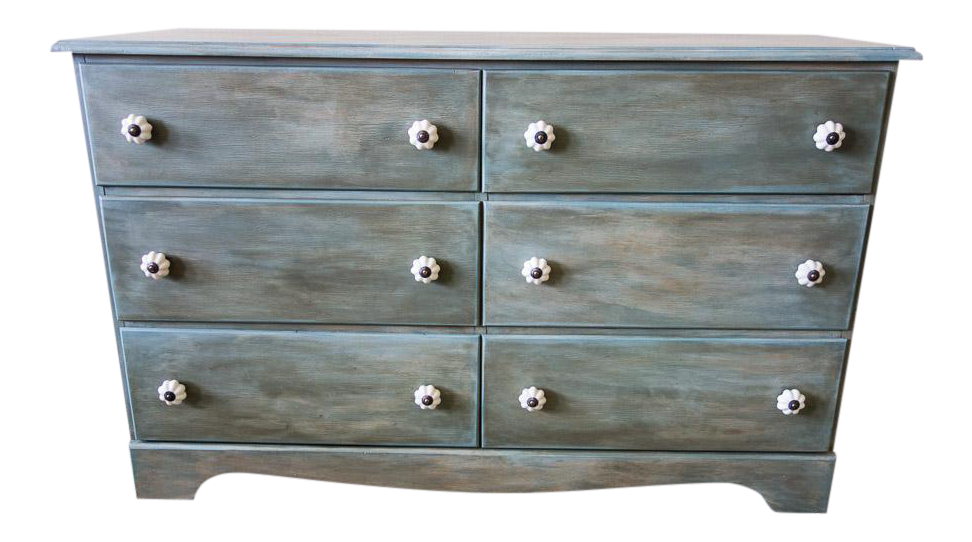 Myers Spalti Farm Style Chalk Painted Chest Of Drawers