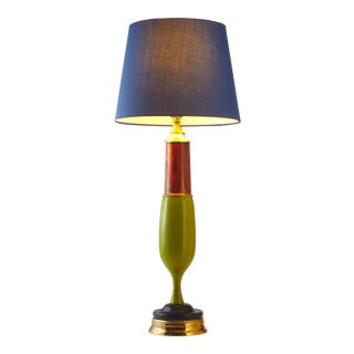 Colorful and Bright Handmade Table Lamp For Sale