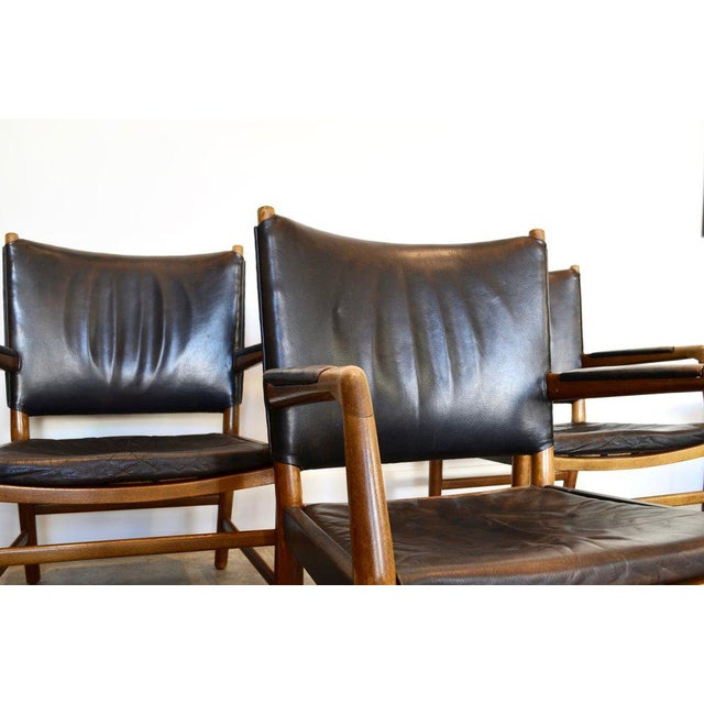 Aarhus City Hall Chairs by Hans Wegner. One available with gorgeous patina.