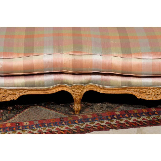 1950s Louis XV Style Carved Wood Sofa For Sale - Image 5 of 5