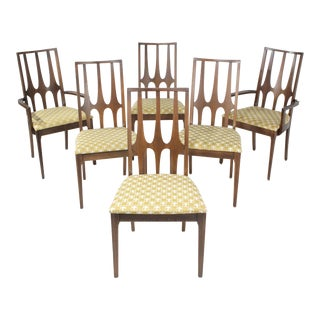 1960s Vintage Broyhill Brasilia Dining Chairs- Set of 6 For Sale