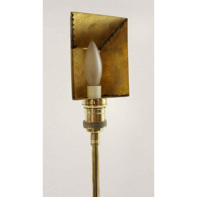 Industrial Articulating Arm Brass Wall Sconce For Sale - Image 3 of 9