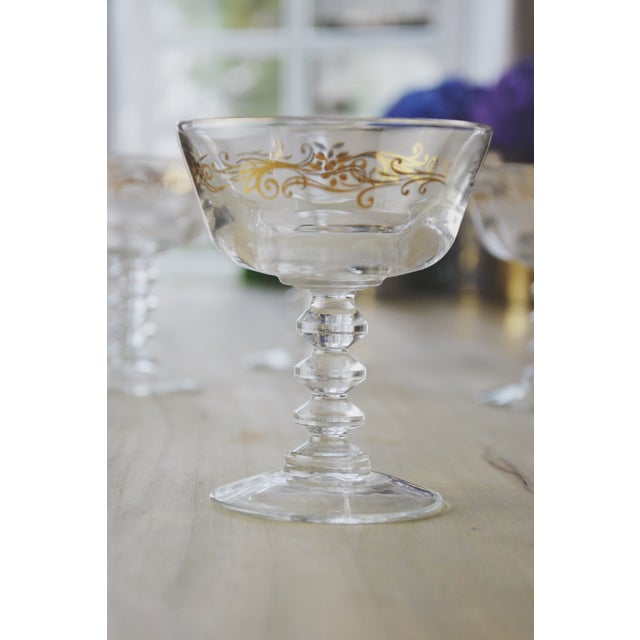 Golden Filigree Goblets - Set of 4 For Sale - Image 4 of 6