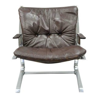 1960s Vintage Elsa & Nordahl Solheim for Rykkin Pirate Lounge Chair For Sale