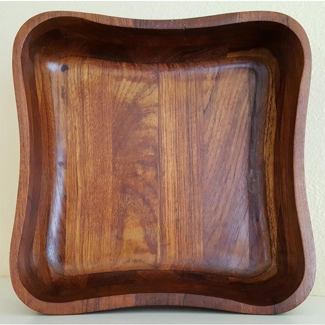 Ernest Sohn Rectangular Siamese Teak Bowl - Image 4 of 11