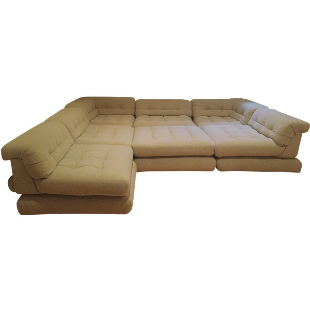 20-Piece Roche Bobois Mah Jong Vintage Hans Hopfer Sofa Set For Sale
